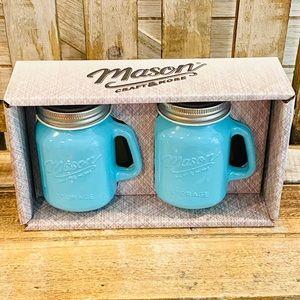 Mason Jar Ceramic Salt & Pepper Shakers